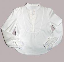 Round Neck Bib Shirt - White - 35.00€