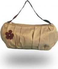 """Bombay"" Raw Silk Shoulder Bag - Rich Tea - 35.00 €"