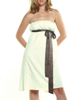 Bustier Dress w silk belt