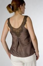 Silk & Lace Top - Taupe Brown - 50.00 €