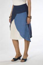 A-line Skirt - Irish Linen - Blue - 65.00€