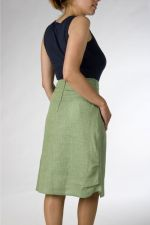 A-line Skirt - Irish Linen - Green - 65.00 €