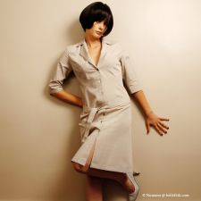 Shirt Dress - Pale Tan - 29.00 €
