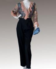 Black Gaberdine Trousers - Black - 50.00€