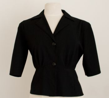 Black Gaberdine Jacket