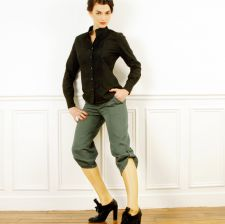 Cropped  trousers - Forest Green - 38.00 €
