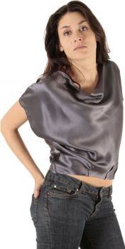 Silk Top Short Sleeves