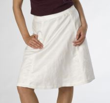 Aline Skirt with Gold Embroidery - White - 29.00€