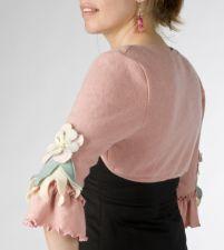 Mid Sleeve Bolero - Rose Pink - Size M - 75.00€