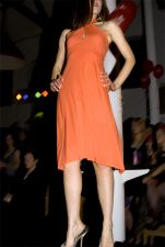 Halter Neck Dress (Only 1 in Stock - Size 8-10) - Orange - 30.00 €