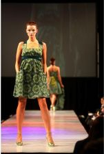Chiffon Belt Dress - 1 Remaining - Size L - Green, Blue - 75.00€